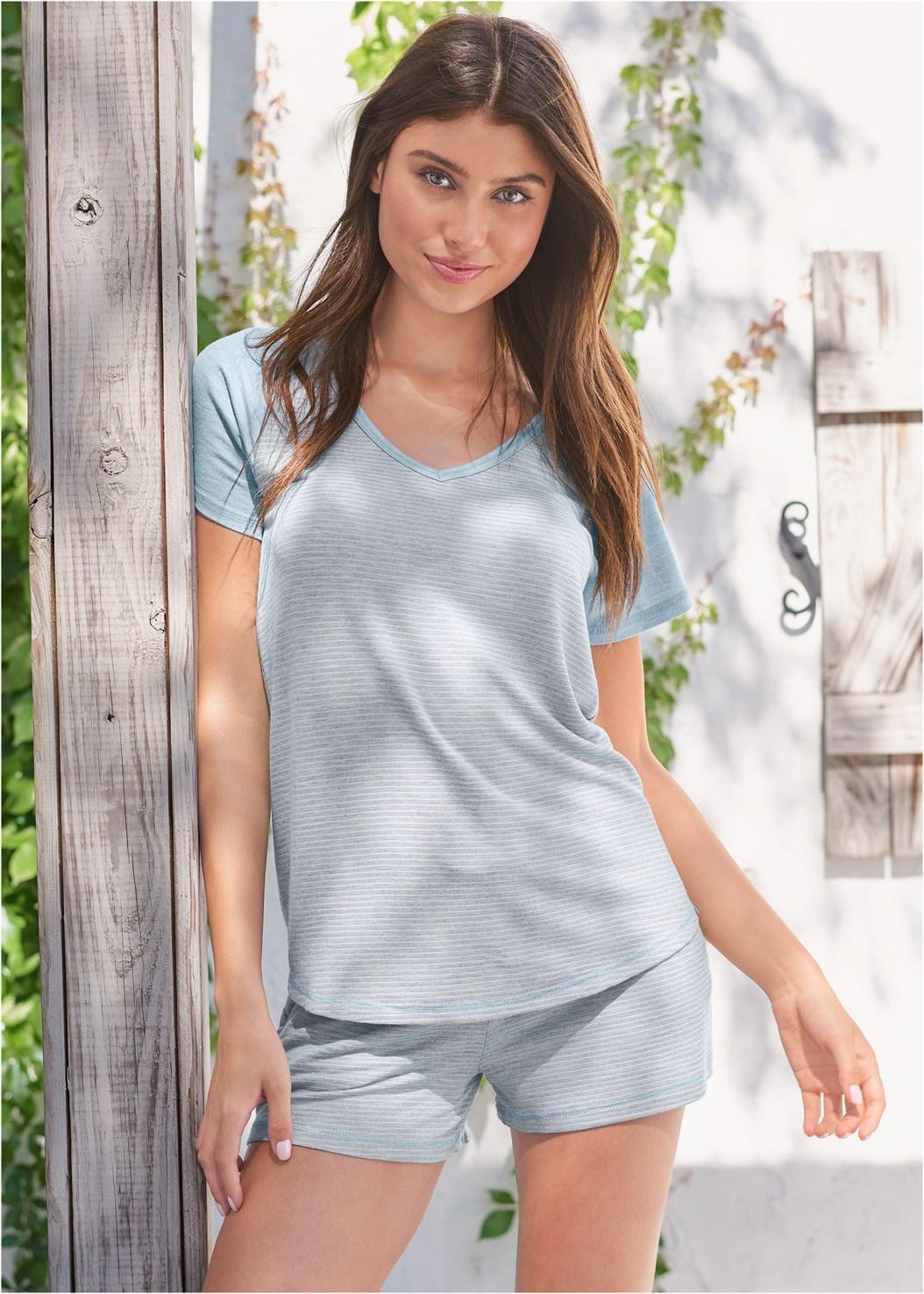 Stripe Sleep Shirt,Striped Sleep Jogger