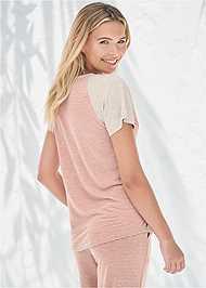 Full back view Stripe Sleep Shirt