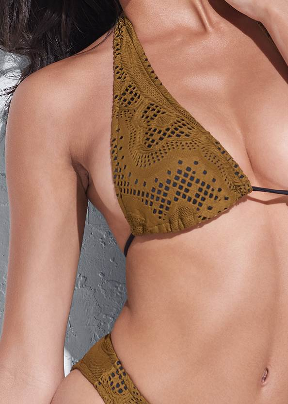 Detail front view Sports Illustrated Swim™ Long Triangle Top
