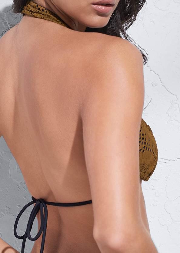 Detail back view Sports Illustrated Swim™ Long Triangle Top
