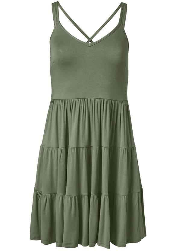 Alternate View Tiered Strappy Mini Dress