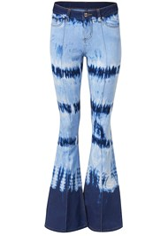 Alternate View Tie Dye Wide Leg Jeans