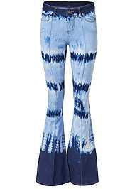Alternate View Tie Dye Wide Leg Jeans