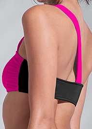 Detail back view Sports Illustrated Swim™ One Shoulder Bandeau Top