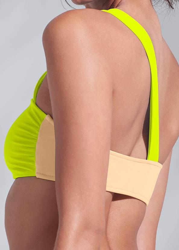 Detail back view Sports Illustrated Swim™ One Shoulder Bandeau Top