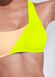 Detail front view Sports Illustrated Swim™ One Shoulder Bandeau