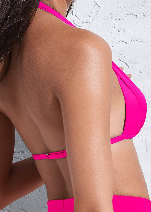 Detail back view Sports Illustrated Swim™ Push Up Halter Top