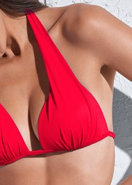 Detail front view Sports Illustrated Swim™ Push Up Halter Top