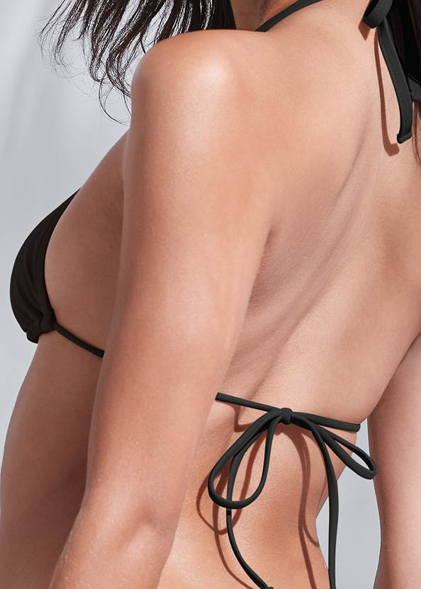 Detail back view Sports Illustrated Swim™ Spider Web Triangle Top