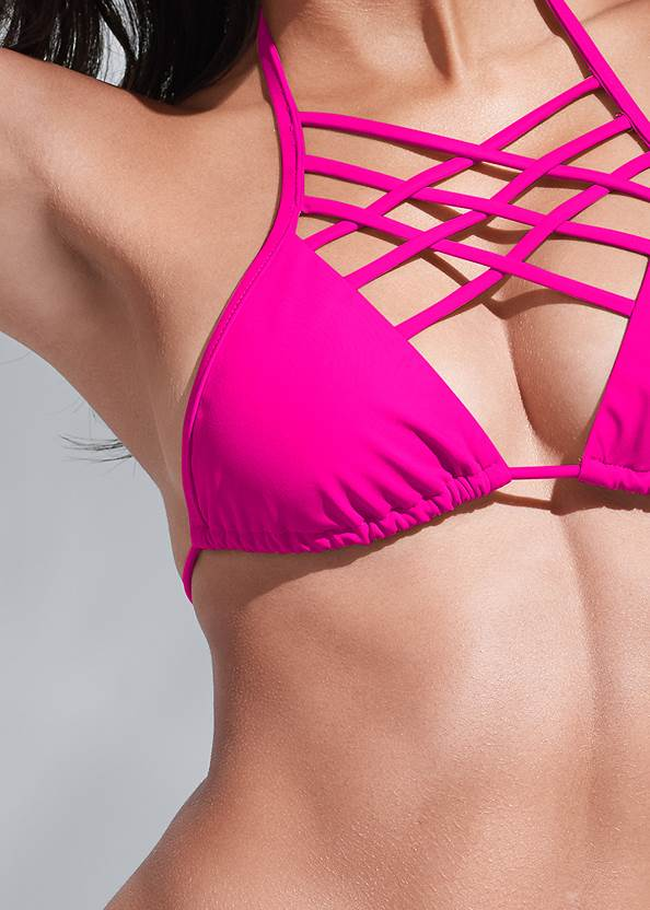 Detail front view Sports Illustrated Swim™ Spider Web Triangle Top