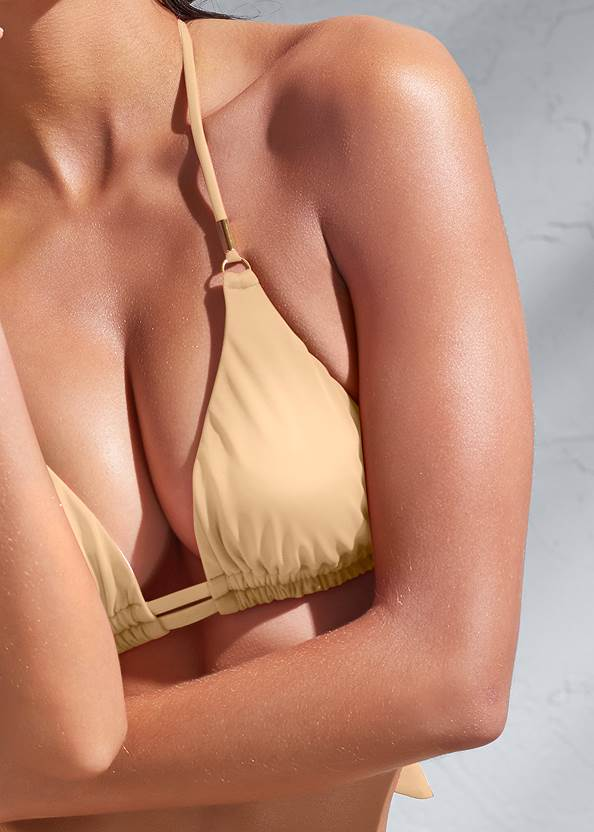 Detail front view Sports Illustrated Swim™ Double Strap Triangle Top
