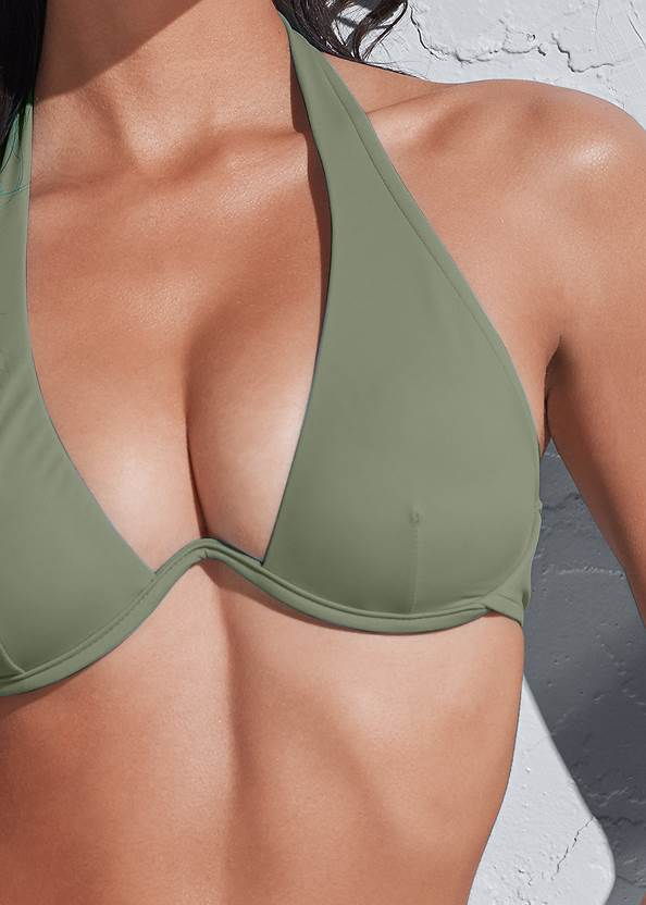 Detail front view Sports Illustrated Swim™ Continuous Underwire Bra Top