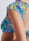 Detail back view Sports Illustrated Swim™ Cap Sleeve Crop Top