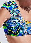 Detail front view Sports Illustrated Swim™ Cap Sleeve Crop Top