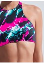 Detail front view Sports Illustrated Swim™ High Neck Sport Top