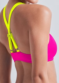 Detail back view Sports Illustrated Swim™ High Neck Sport Top