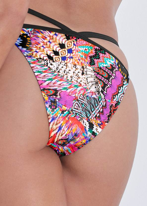 Detail back view Sports Illustrated Swim™ Strappy Banded Bottom