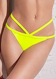 Detail front view Sports Illustrated Swim™ Strappy Banded Bottom