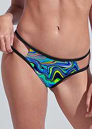 Detail front view Sports Illustrated Swim™ Cut Out Sides Bottom