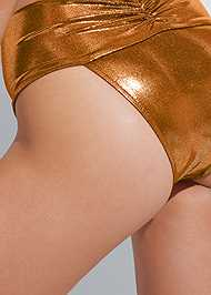 Detail back view Sports Illustrated Swim™ High Leg Ruched Bottom