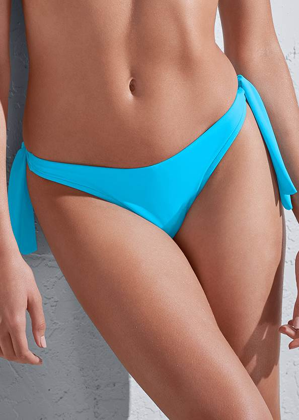 Detail front view Sports Illustrated Swim™ Sash Tie Side Bottom