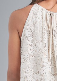Alternate View Lace Sleeveless Top