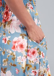 Alternate View Smocked Floral Maxi Top