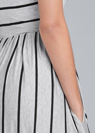 Detail back view Stripe Maxi Dress