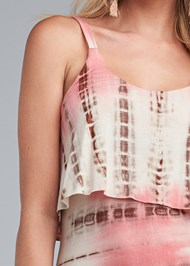 Detail front view Overlay Tie Dye Maxi Dress