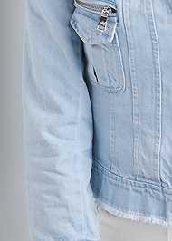 Alternate View Cropped Denim Moto Jacket