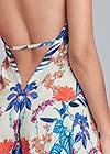 Detail back view Low Back Printed Maxi Dress