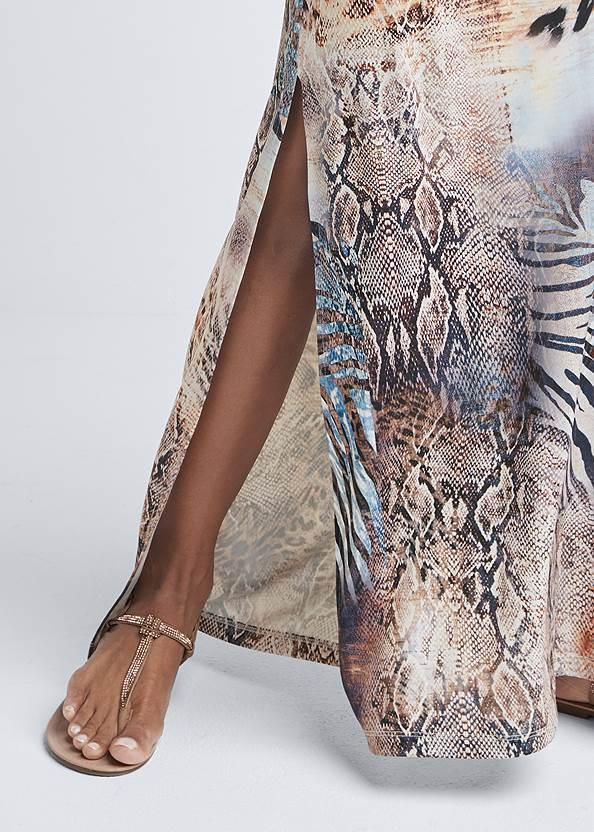 Detail front view Chain Strap Maxi Dress