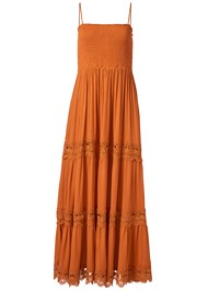 Ghost with background  view Tiered Smock Maxi Dress