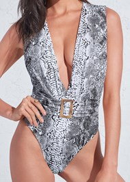 Alternate View Sports Illustrated Swim™ Plunging Belted One-Piece