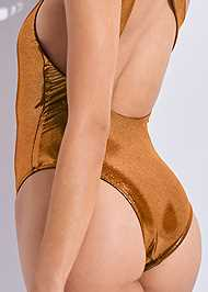 Detail back view Sports Illustrated Swim™ Asymmetrical Ring One-Piece