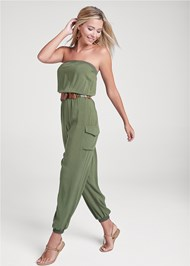 Front View Strapless Utility Jumpsuit