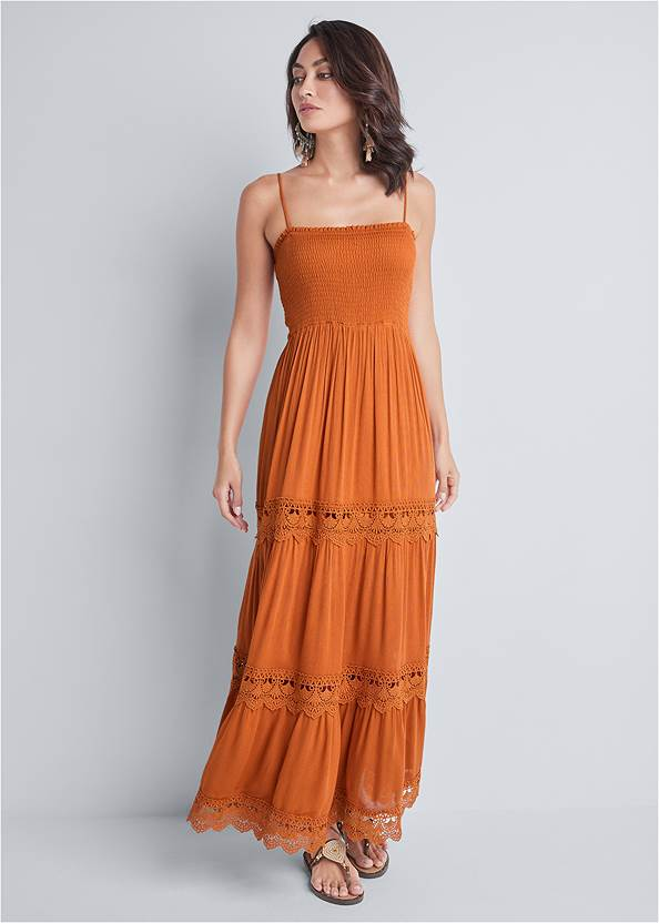 Tiered Smock Maxi Dress