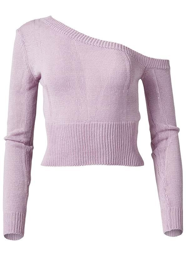 Alternate View One Shoulder Sweater