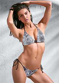 Full front view Sports Illustrated Swim™ Double Strap Triangle Top