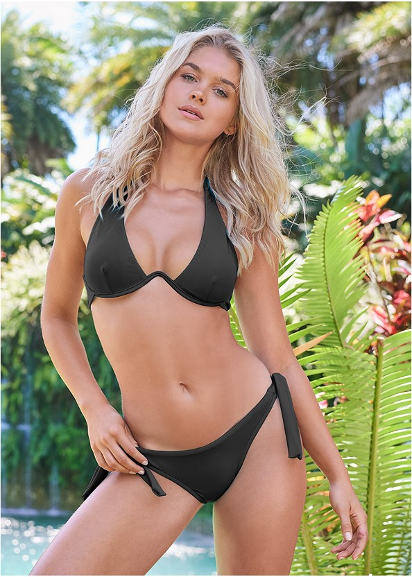 Sports Illustrated Swim™ Sash Tie Side Bottom,Sports Illustrated Swim™ Continuous Underwire Bra Top,Sports Illustrated Swim™ Double Strap Triangle,Sports Illustrated Swim™ Push Up Halter Top,Sports Illustrated Swim™ Spider Web Triangle Top