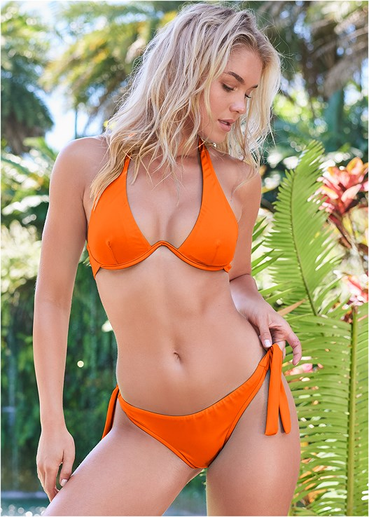 SPORTS ILLUSTRATED SWIM™ CONTINUOUS UNDERWIRE BRA TOP,SPORTS ILLUSTRATED SWIM™ SASH TIE SIDE BOTTOM,SPORTS ILLUSTRATED SWIM™ TIE SIDE STRING BOTTOM