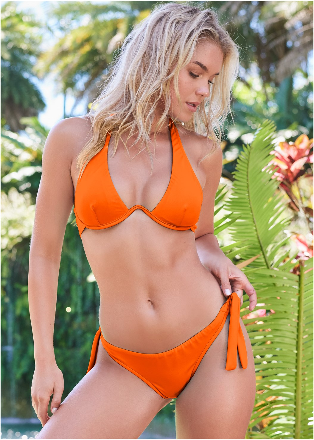 Sports Illustrated Swim™ Sash Tie Side Bottom,Sports Illustrated Swim™ Continuous Underwire Bra Top,Sports Illustrated Swim™ Double Strap Triangle Top