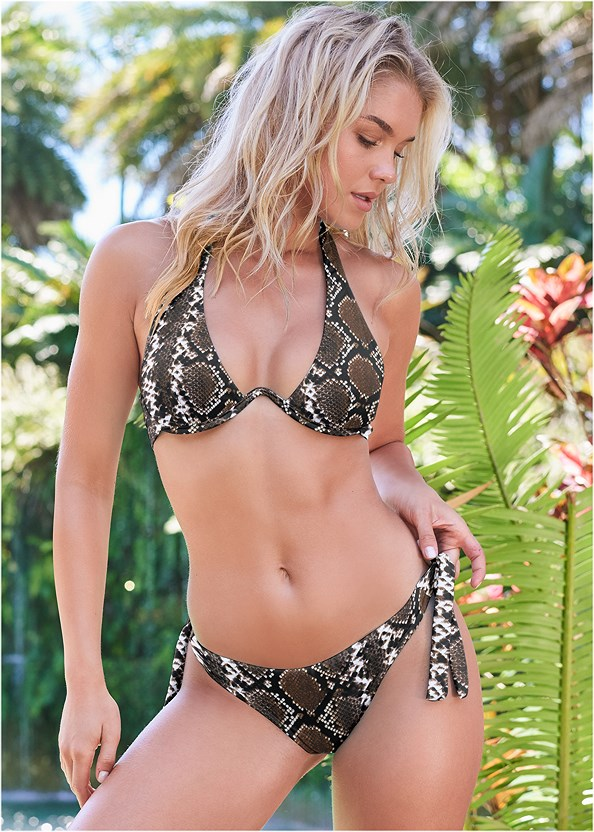 Sports Illustrated Swim™ Sash Tie Side Bottom,Sports Illustrated Swim™ Continuous Underwire Bra Top,Sports Illustrated Swim™ Double Strap Triangle
