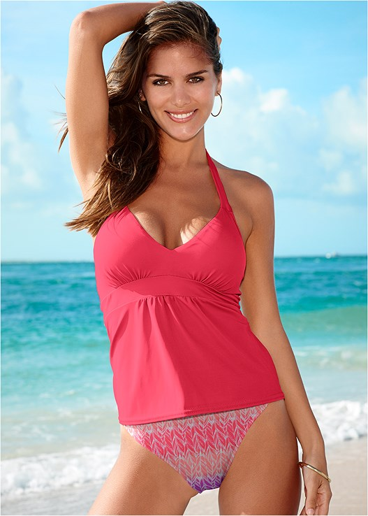 MID RISE BOTTOM,SIREN TANKINI TOP,SHAPELY RUCHED BANDEAU,BEACH BELLA HALTER TOP,SPORT HALTER BIKINI TOP