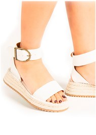 Alternate View Textured Wide Strap Flatform Wedge