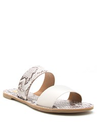 Full Front View Double Strap Printed Sandal