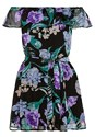 Ghost front view Tie Waist Floral Romper