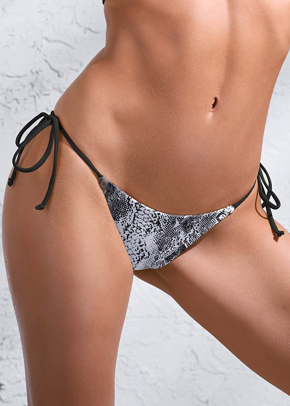 Detail front view Sports Illustrated Swim™ Tie Side String Bottom