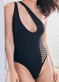 Alternate View One Shoulder Bodysuit