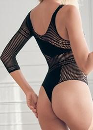 Back View One Shoulder Bodysuit
